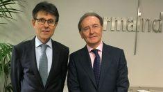 Humberto Arnés y Martín Sellés, director general y presidente de Farmaindustria