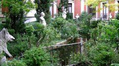 Los jardines del Museo Cerralbo de Madrid con sus características esculturas.