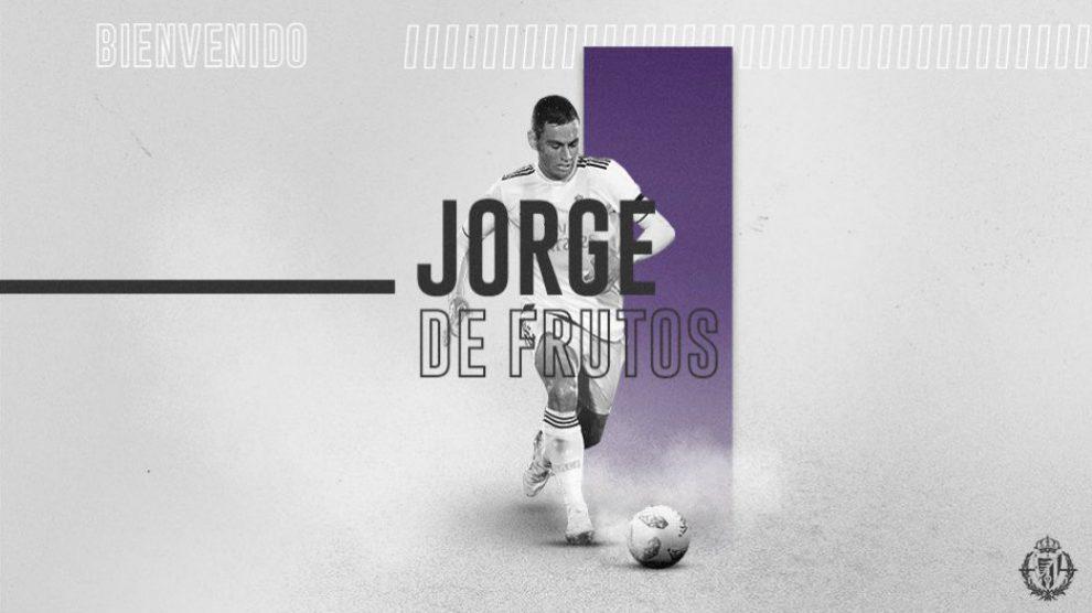 Jorge de Frutos, nuevo fichaje del Real Valladolid (Real Valladolid)