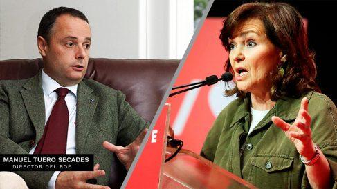 El director del BOE Manuel Tuero Secades junto a Carmen Carlvo