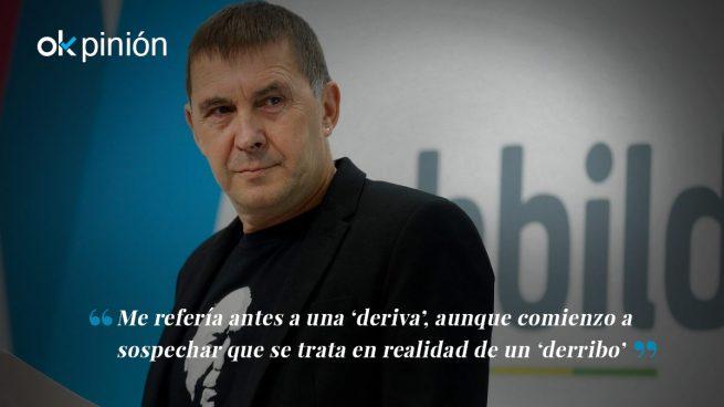 Derribo del catalanismo, con Otegi al fondo