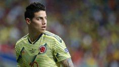 James Rodríguez, durante un partido con Colombia en esta Copa América. (Getty)