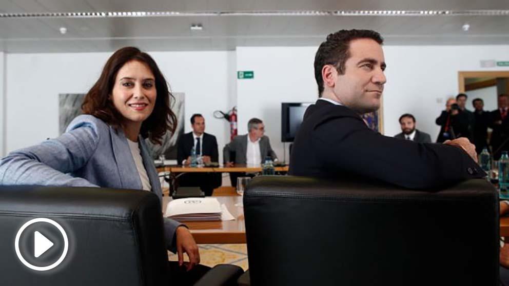 Isabel Díaz Ayuso y Teodoro García Egea, dirigentes del PP @Getty