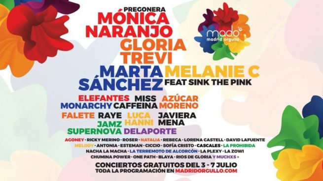 Orgullo gay Madrid conciertos