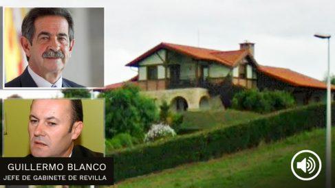 Guillermo Blanco Gómez, jefe de gabinete de Miguel Ángel Revilla, junto a la casa en la que reside