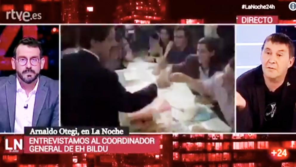 Arnaldo Otegi, en la entrevista en TVE.