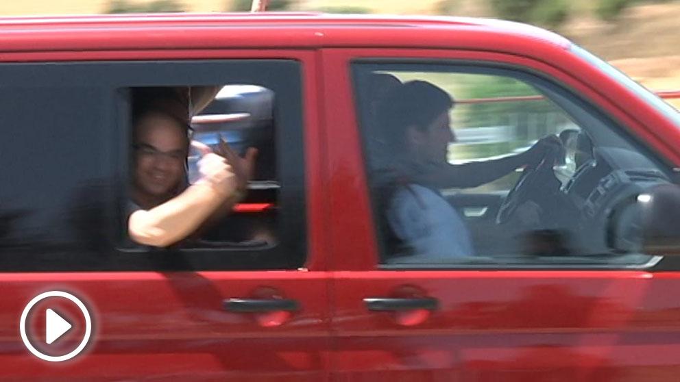 Los presos golpistas llegan a la cárcel de Lledoners. Foto: OKDIARIO