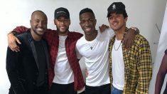 Imagen compartido por Vinicius en la que aparece junto a Neymar. (Instagram)