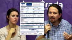 Irene Montero, Pablo Iglesias y el impuesto municipal de Obras.