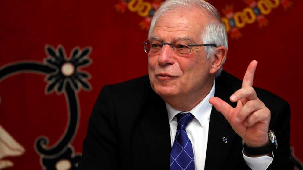 El ministro de Exteriores en funciones, Josep Borrell, durante la inauguración de un seminario sobre Liderazgo y Empoderamiento, este miércoles en la Escuela Diplomática, en Madrid. Foto: EFE