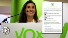 La política de Vox Rocío Monasterio. (Foto. Vox)
