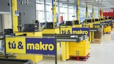 Líneas de cajas de Makro