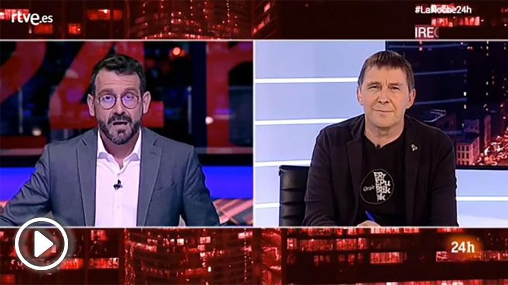 Arnaldo Otegi, en TVE.