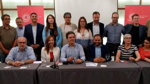 Nueva junta de la Societat Civil Catalana (Foto: EP)