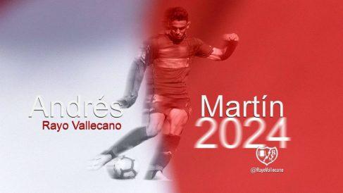 Andrés Martín, nuevo fichaje del Rayo Vallecano (@RayoVallecano)