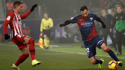 Enric Gallego en un partido contra el Atlético de Madrid (@Gallegoenric)