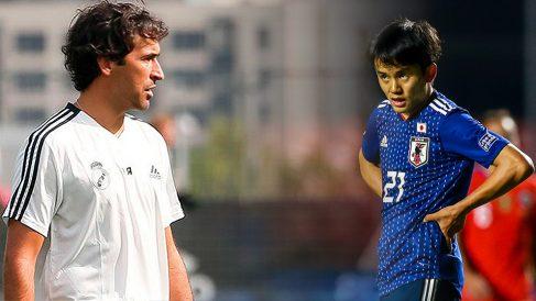 Takefusa Kubo y Raúl.