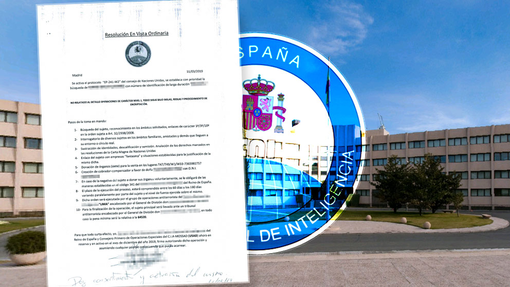 El currículum del falso sicario del CNI.