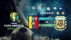 Copa América 2019: Venezuela – Argentina   Horario del partido de fútbol de la Copa América 2019.