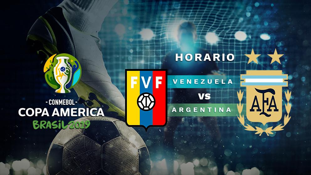 Copa América 2019: Venezuela – Argentina | Horario del partido de fútbol de la Copa América 2019.