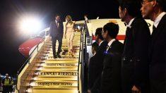 Begoña Gómez, con Pedro Sánchez, en Japón.