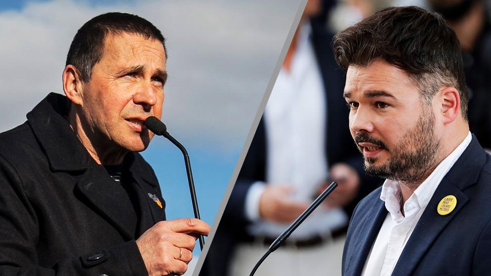 Arnaldo Otegi (EH Bildu) y Gabriel Rufián (ERC).