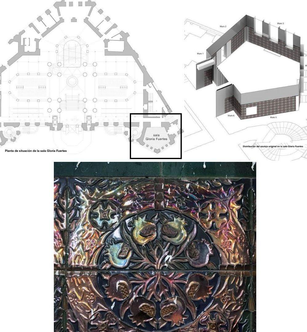 Plano del Palacio de Cibeles y de la nueva sala Gloria Fuertes.