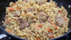 Receta de Cordero con arroz