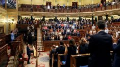 Vista general del Hemiciclo durante el homenaje a las víctimas del terrorismo sin Pedro Sánchez