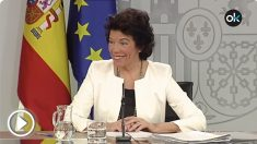 Isabel Celaá, portavoz del Ejecutivo en funciones.