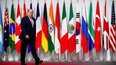 Trump llegando al G20.