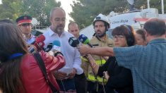 Consejero de Interior en la zona del incendio de Tarragona @EP