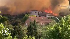 El incendio en Toledo se acerca al sur de Madrid.