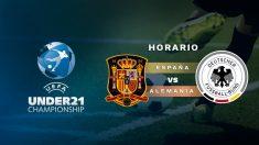 Europeo sub-21: España – Alemania   Horario del partido de fútbol del Europeo sub-21.