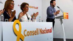 El vicepresidente del Govern, Pere Aragonés y adjunto a la presidencia de ERC, interviene ante el Consejo Nacional de ERC reunido en Barcelona. Foto: EFE