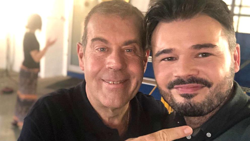 Gabriel Rufián junto al periodista y ministro de Deportes de Tabarnia Tomás Guasch.