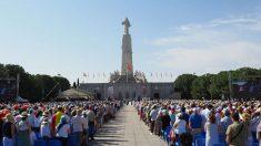 Más de 12.000 fieles católicos en la ceremonia de renovación de la consagración de España al Sagrado Corazón de Jesús en Getafe (Madrid). Foto: EP