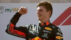 Max Verstappen celebra su triunfo en el Gran Premio de Austria de Fórmula 1. (AFP)
