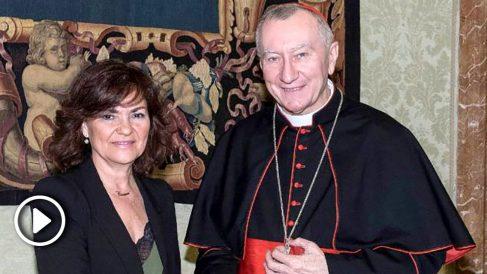 Carmen Calvo en su visita al Vaticano @EFE