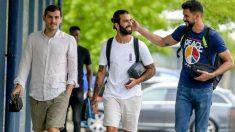 Casillas, a su llegada a la ciudad deportiva del Oporto.