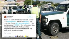 Control antiterrorista de la Guardia Civil.