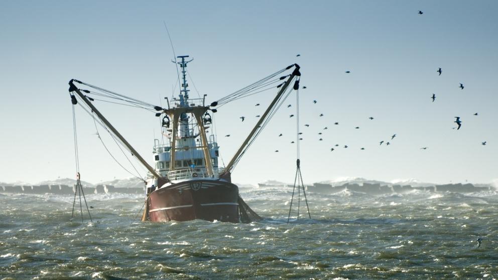 Un pesquero español faenando.