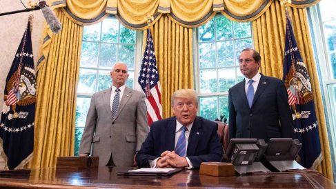 Donald Trump en la casa Blanca (Foto: AFP)