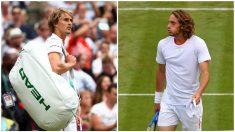 Zverev y Tsitsipas, tras su eliminación en Wimbledon. (Getty)