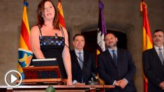 Francina Armengol en su toma de posesión (Foto: EFE)