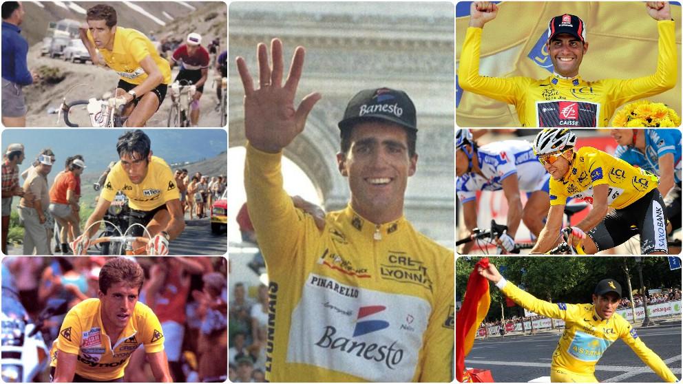 Los siete ganadores españoles del Tour de Francia.