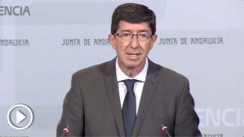 Juan Marín, vicepresidente de la Junta y dirigente de C's. @JuntadeAndalucía
