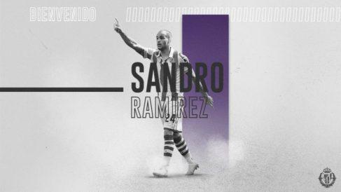 Sandro Ramírez, nuevo fichaje del Valladolid (Real Valladolid)