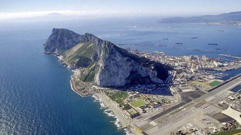 Imagen aérea del Peñón de Gibraltar.
