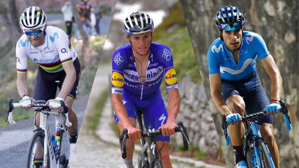 Alejandro Valverde, Enric Mas y Mikel Landa.